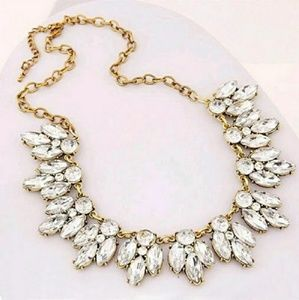Crystal Cubic Zarconia & Gold Statement Necklaces